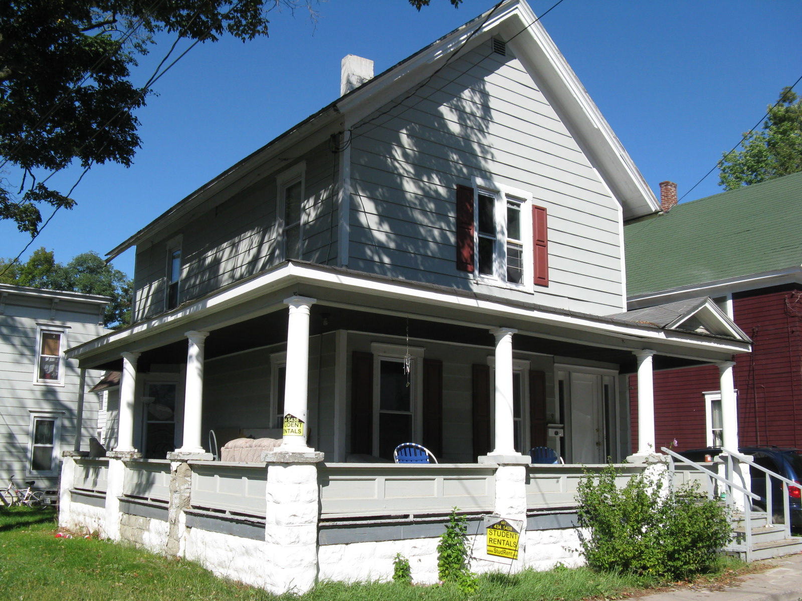 Student Housing Rentals Oneonta, 9 Lawn Ave., 4 Bedroom Apartments